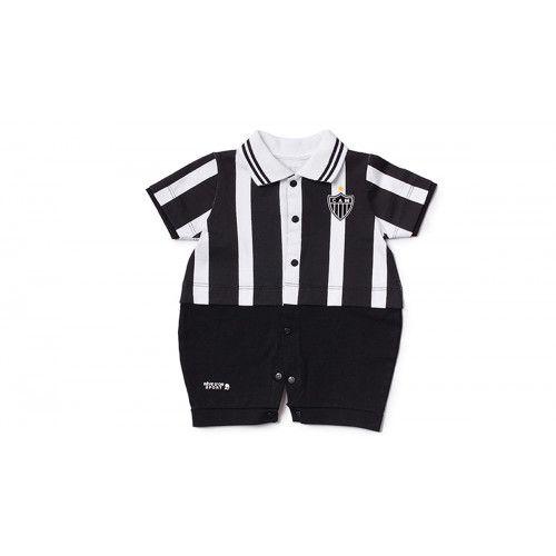 Macacão Bebê Menino Uniforme Atlético MG