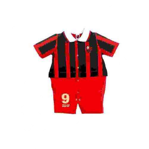 Macacão Bebê Menino Uniforme Flamengo