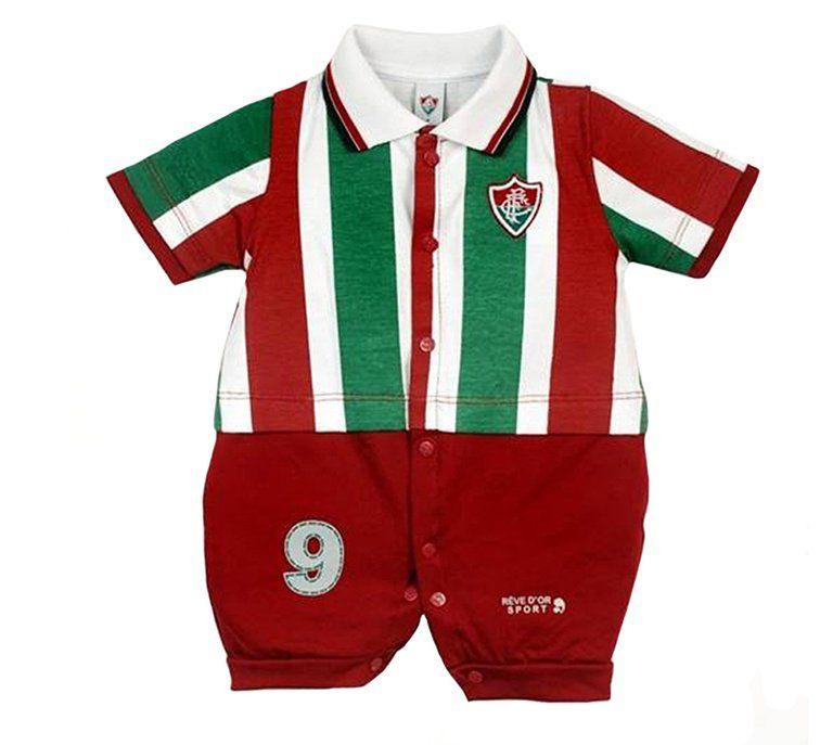 Macacão Bebê Menino Uniforme Fluminense