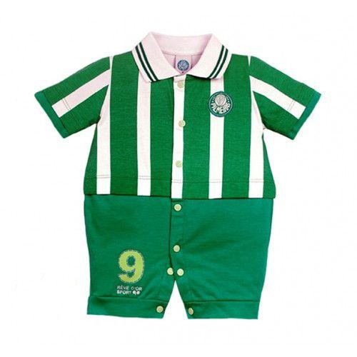 Macacão Bebê Menino Uniforme Palmeiras