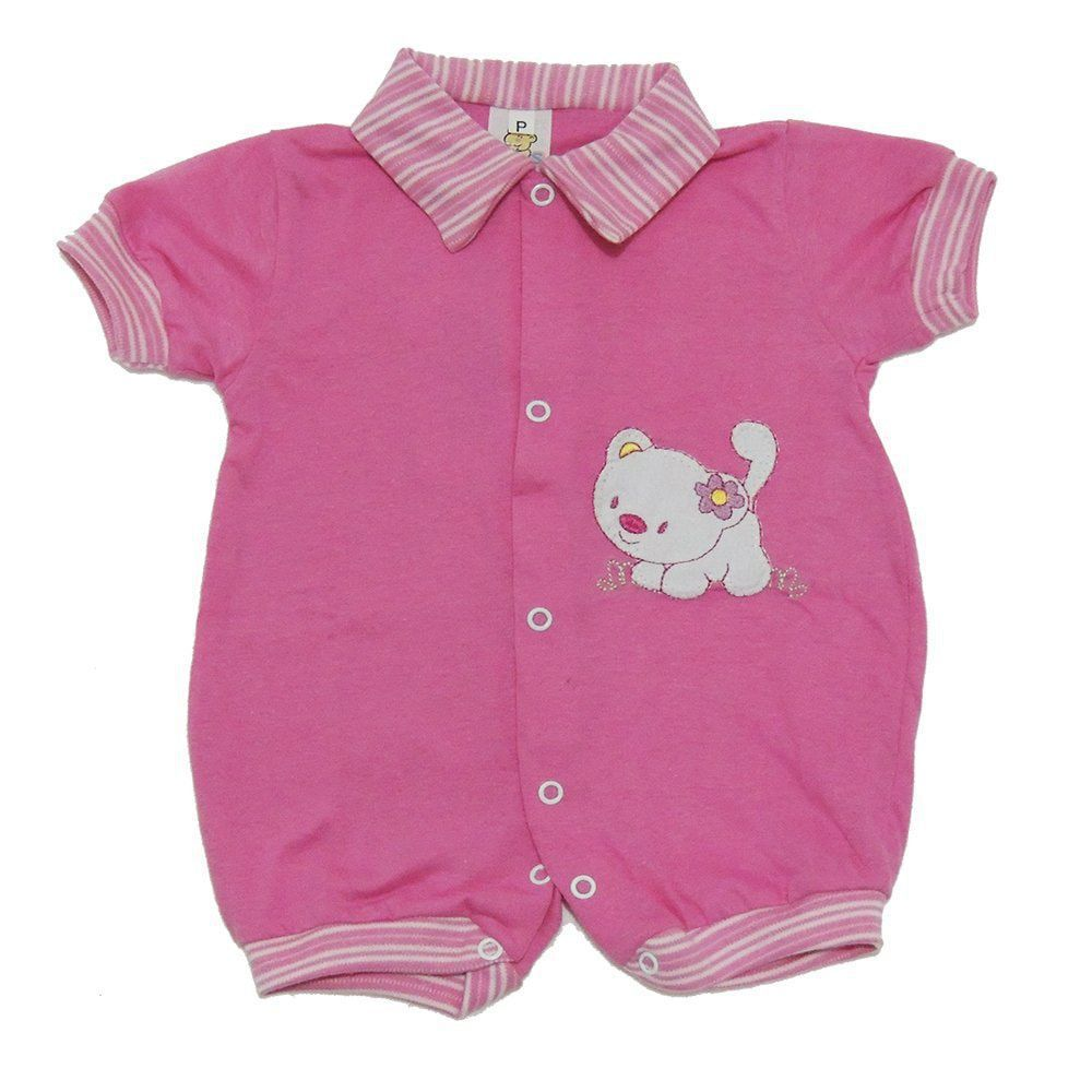 Macacão Curto Bebê Menina