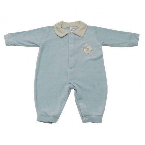 Macacão em Plush Infantil Azul Claro