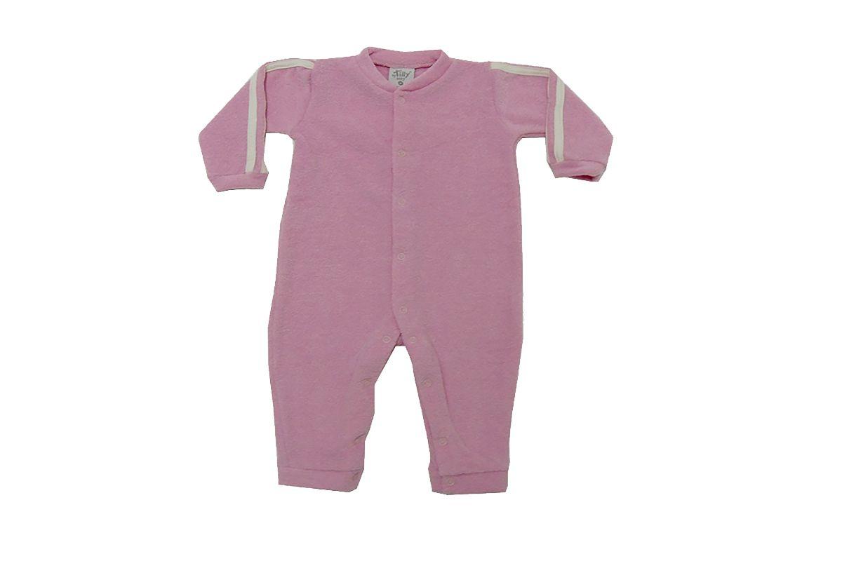 Macacão Infantil Soft Rosa Menina