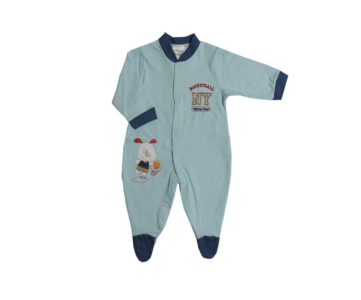 Macacão Longo Bebê Menino Bordado