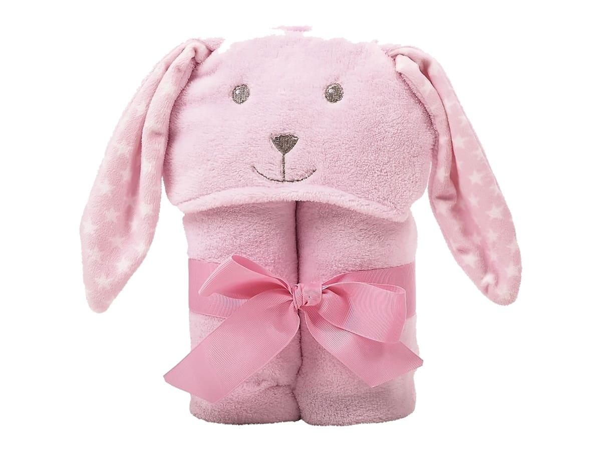 Manta Com Capuz Coelha Rosa Baby Joy