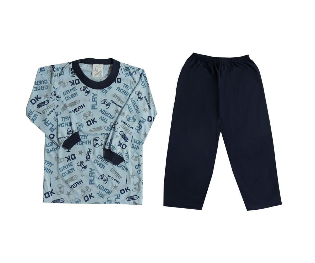 Pijama Infantil Menino Estampado em Malha
