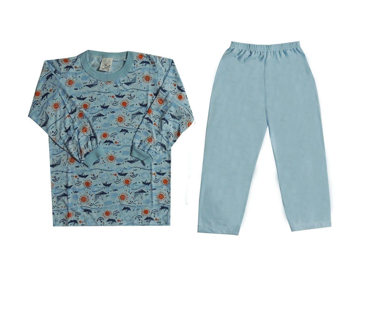 Pijama Infantil Menino Estampado em Malha Tam 1 ao 8