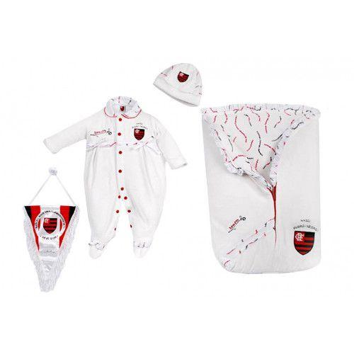 Saída de Maternidade Flamengo Plush Menina