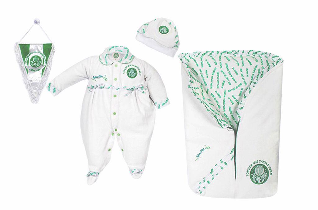 Saída de Maternidade Palmeiras Plush Menina