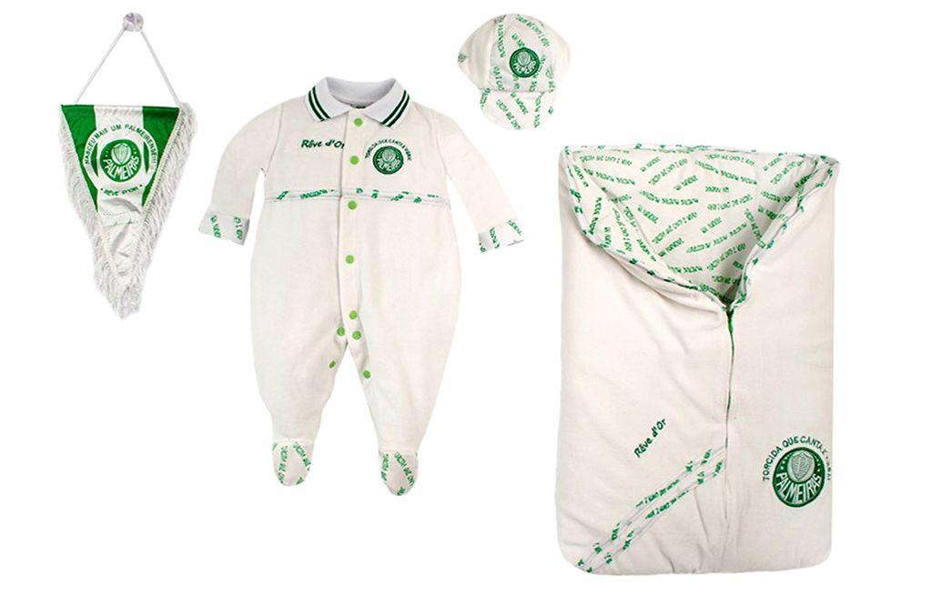 Saída de Maternidade Palmeiras Plush Menino
