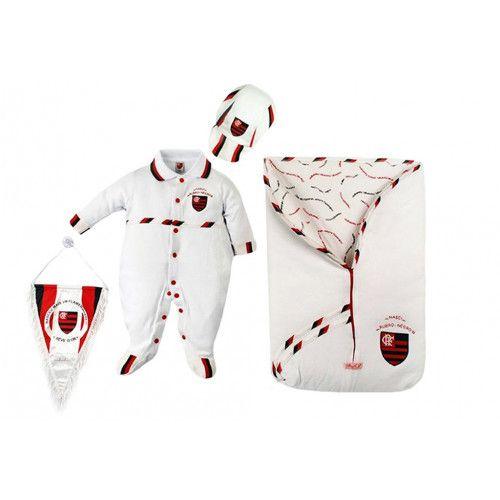 Saída Maternidade Menino Flamengo - Luxo