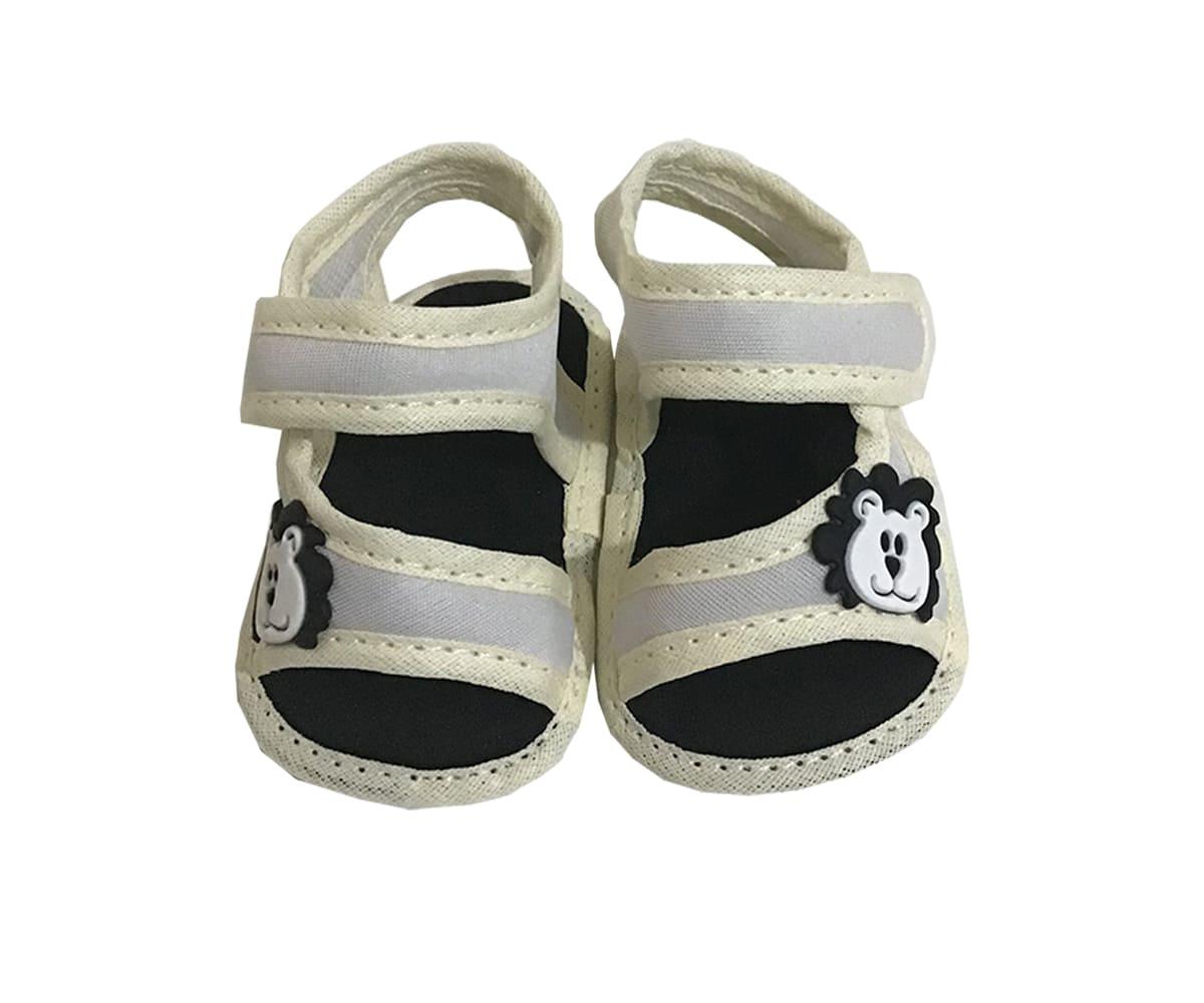Sandália de Bebê Com Velcro Leão