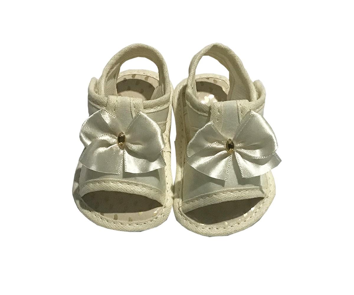 Sandália Para Bebê Menina Com Laço