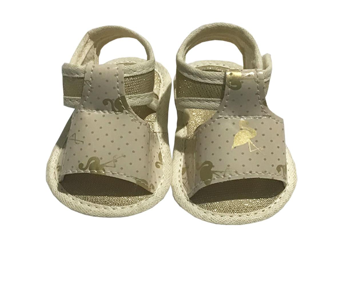 Sandália Para Bebê Menina Com Velcro