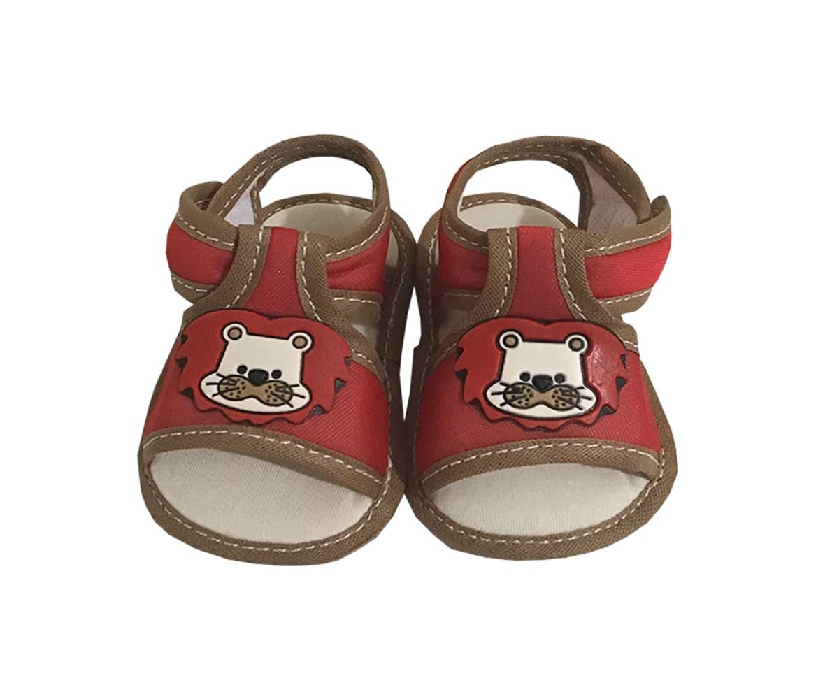 Sandália Para Bebê Menino Aplique de Leão