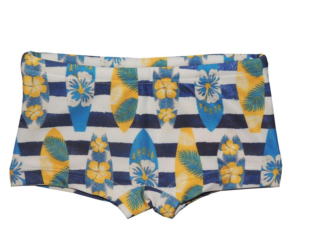 Sunga Boxer Bebê Estampa Hawai Proteção UV 50+