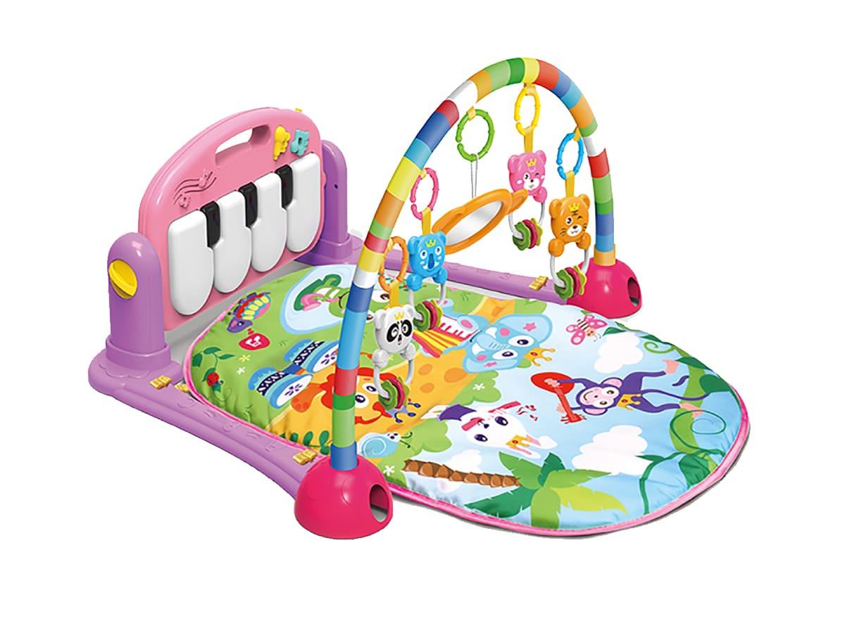 Tapete Atividades Piano Musical Happy Rosa