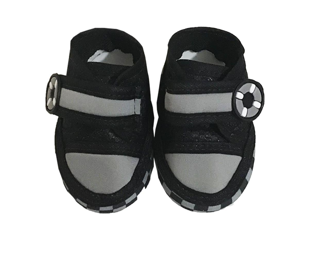 Tênis Bebê Com Velcro Preto K' Anjos