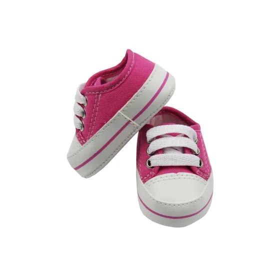 Tênis Bebê Menina Charme Pink com Cadarço