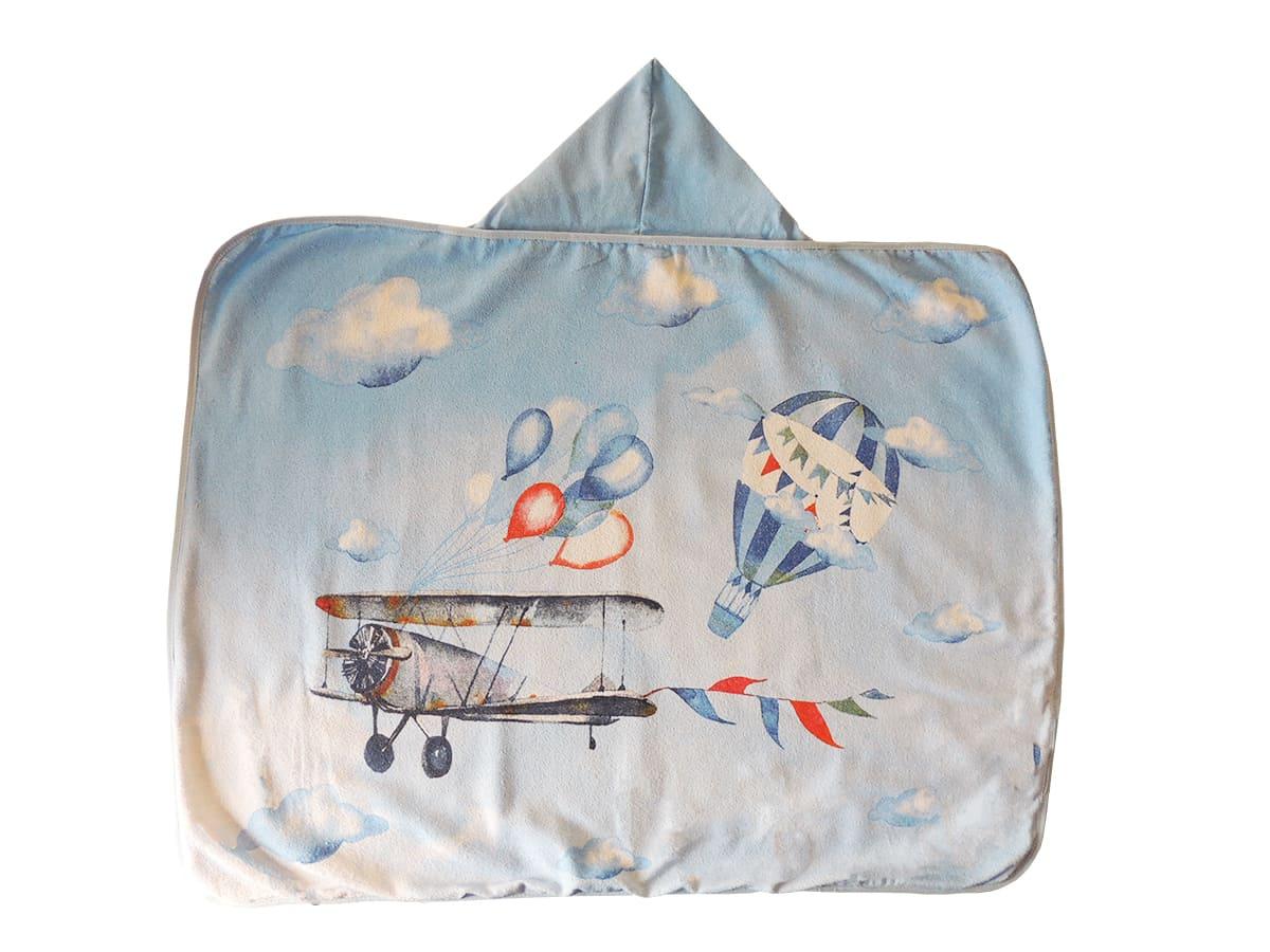 Toalha com Capuz Estampa de Avião