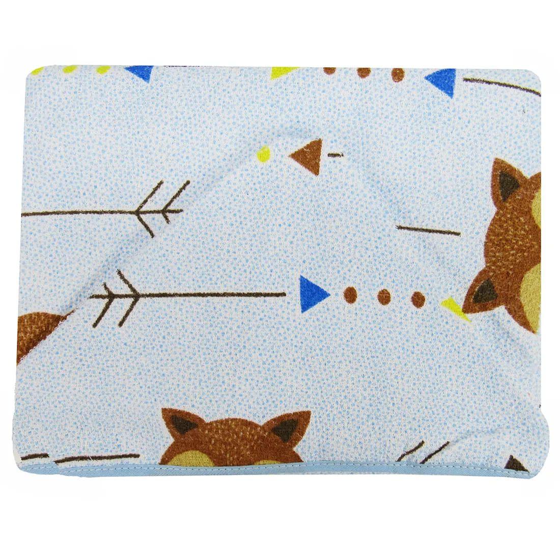 Toalha de Banho Capuz Forrada - Raposinha - Azul