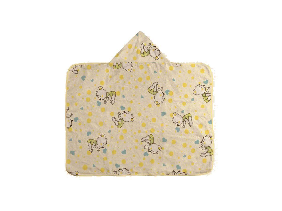 Toalha de Banho Infantil com Capuz  -Ursinho Amarelo