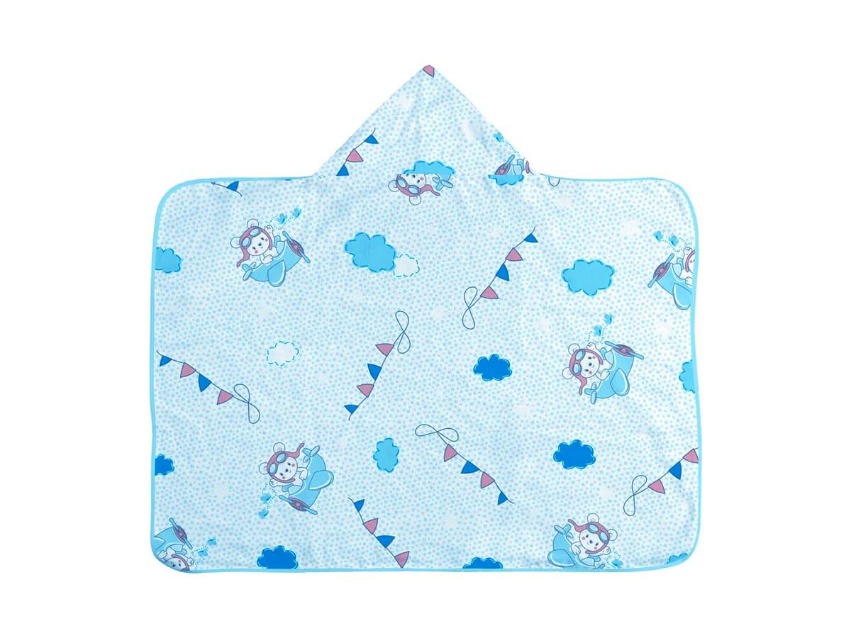 Toalha de Banho Infantil com Capuz  -Ursinho Aviador