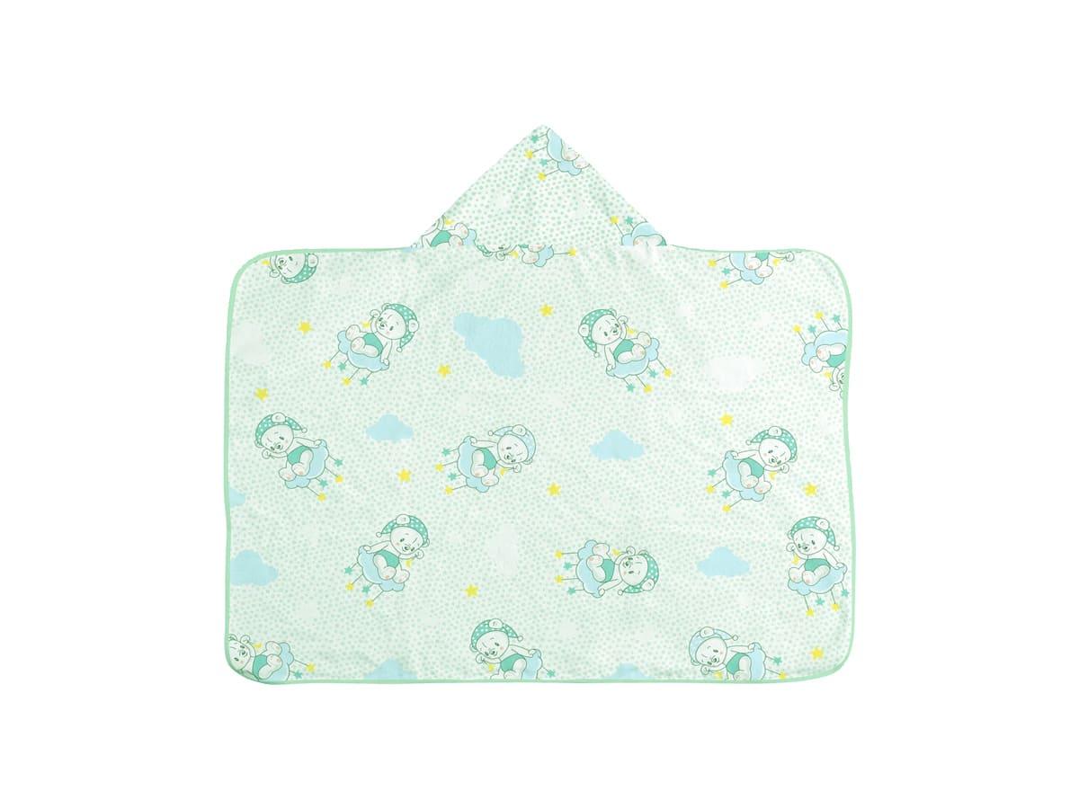 Toalha de Banho Infantil com Capuz  -Ursinho Verde