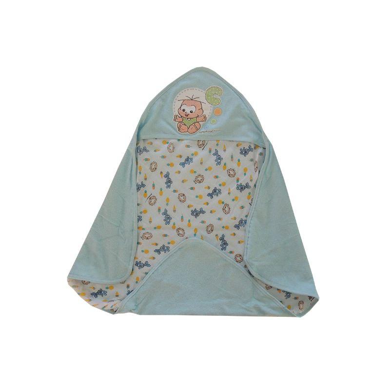 Toalha de Plush com Capuz Turma da Mônica Azul