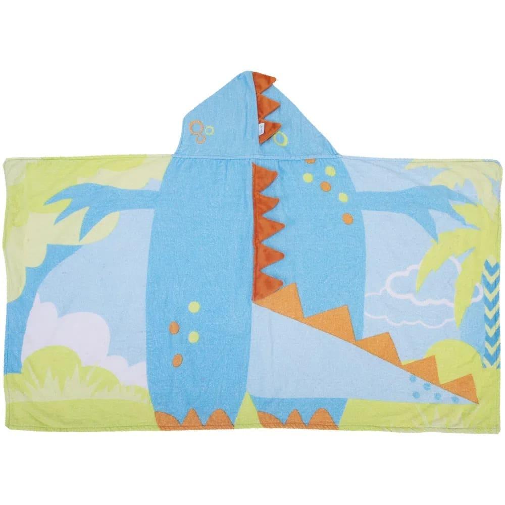 Toalha Infantil 3D Dinossauro Com Capuz