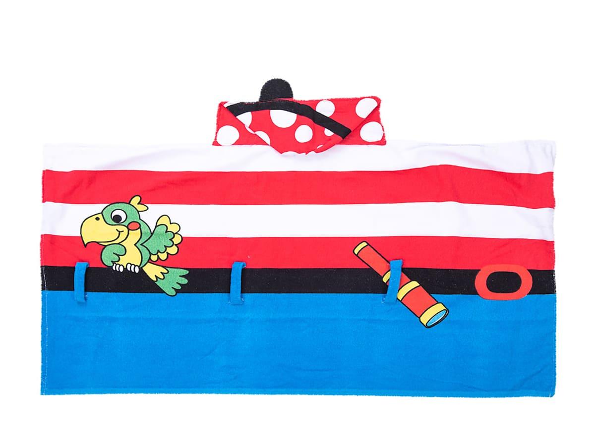 Toalha Infantil 3D Super Funny - Pirata Vermelho