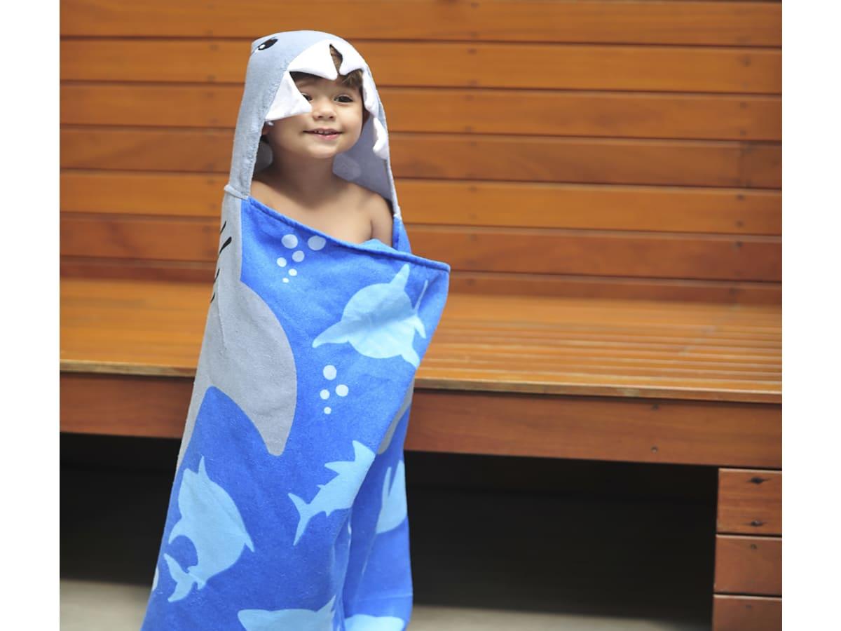 Toalha Infantil 3D Super Funny - Tubarão