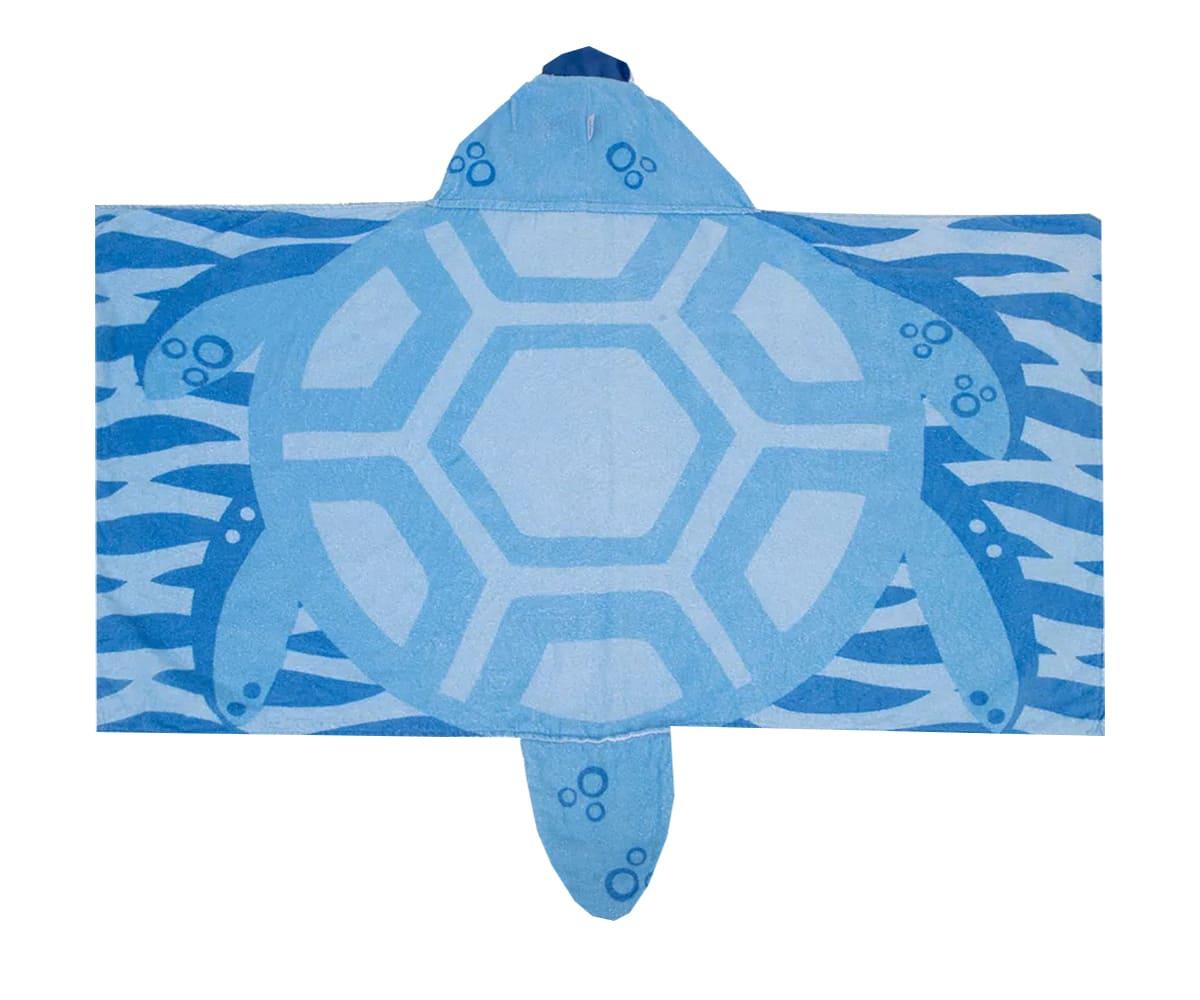 Toalha Infantil 3D Tartaruga Menino Com Capuz
