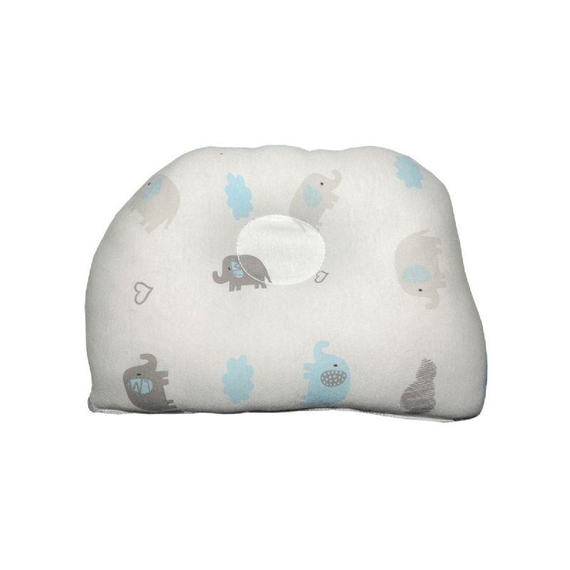 Travesseiro Anatômico para Bebê Estampa de Elefantes