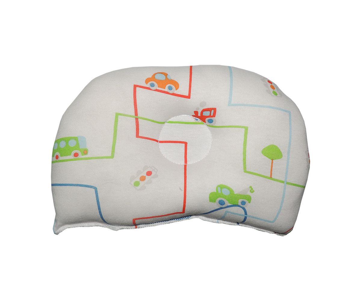 Travesseiro Anatômico para Bebê Estampa Meio de Transportes