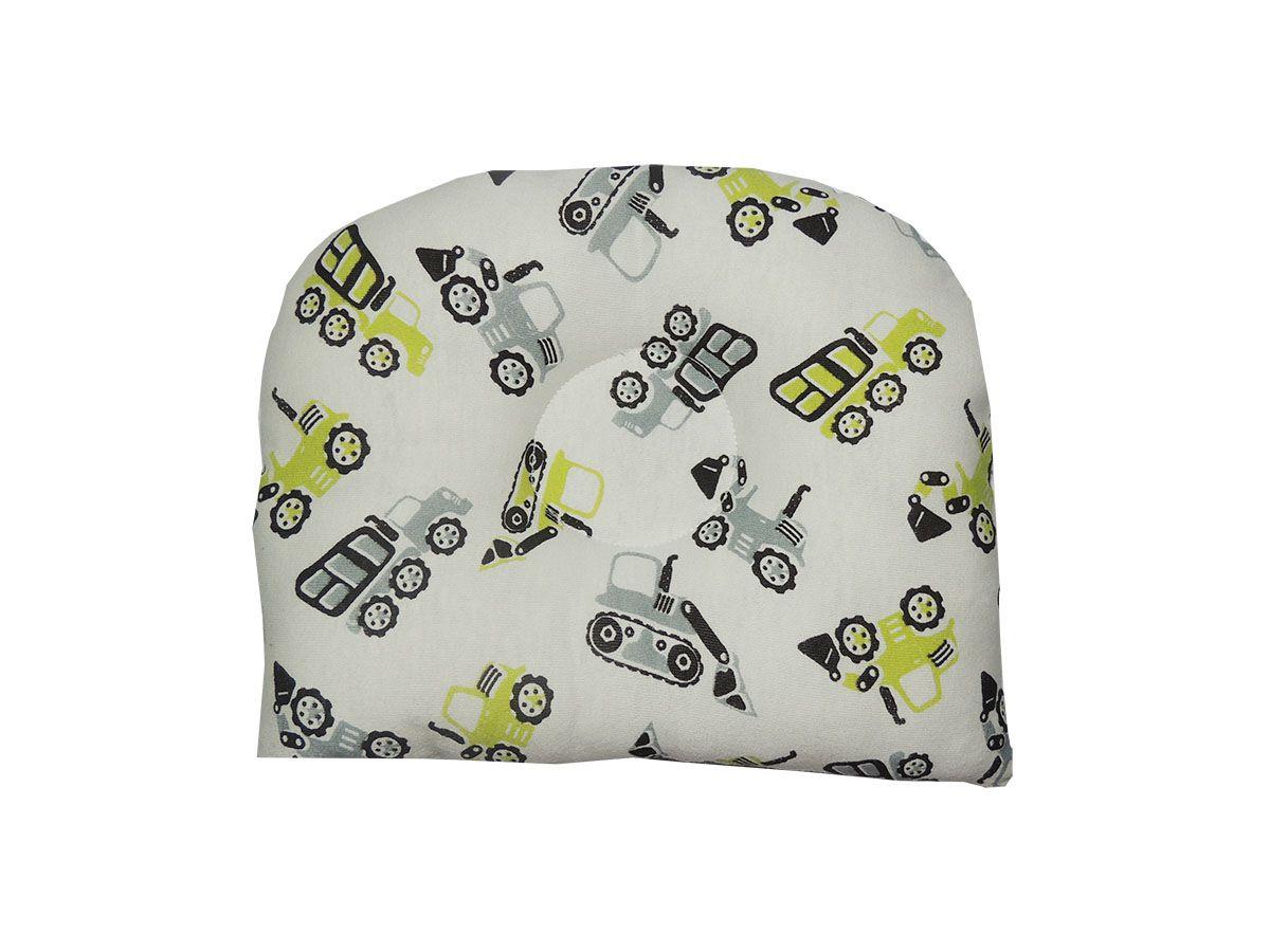 Travesseiro Anatômico para Bebê Estampa Tratores