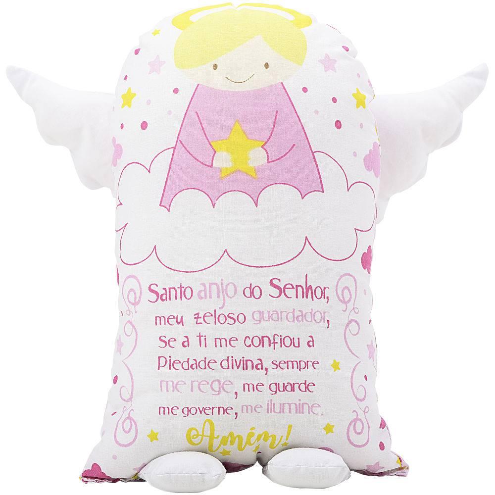 Travesseiro Naninha Anjinho da Guarda Menina
