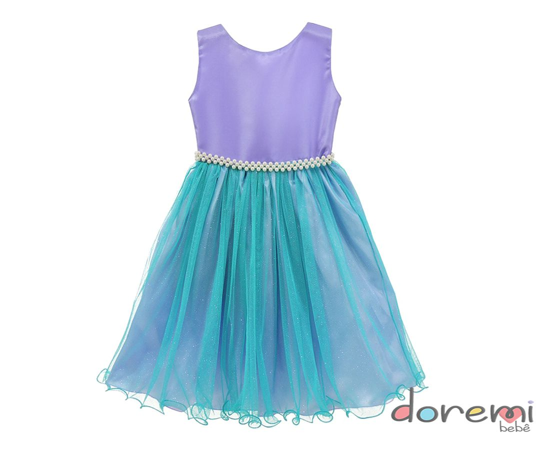 Vestido Fantasia Ariel - Pequena Sereia