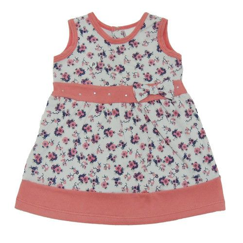 Vestido Floral Bebê Menina Regata