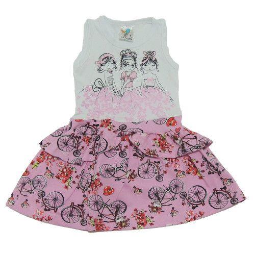 Vestido Infantil Amigas Princesas