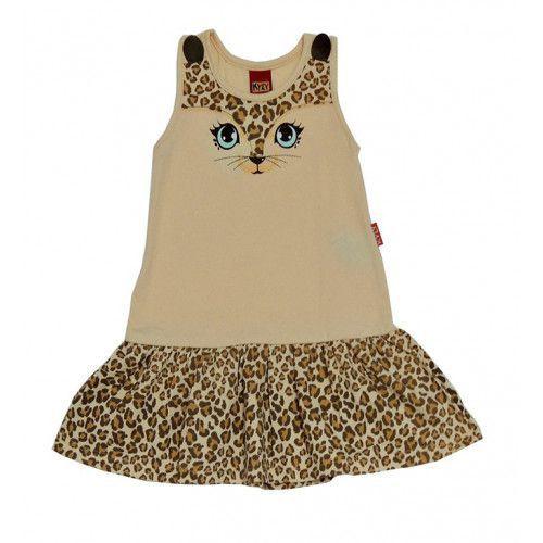 Vestido Infantil com Estampa de gatinha
