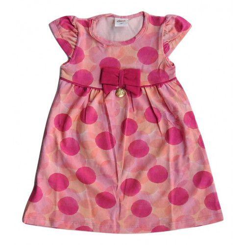 Vestido Infantil Estampado de Bolinhas