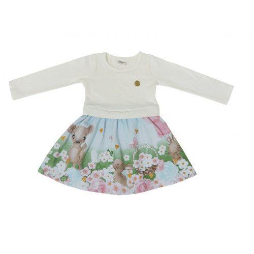 Vestido Infantil Estampado Elian