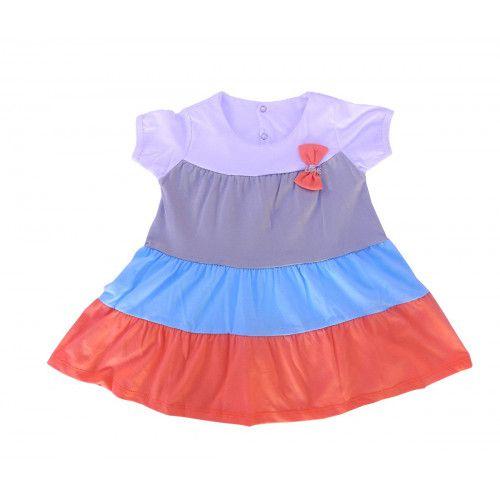 Vestido Infantil Listrado com Laço