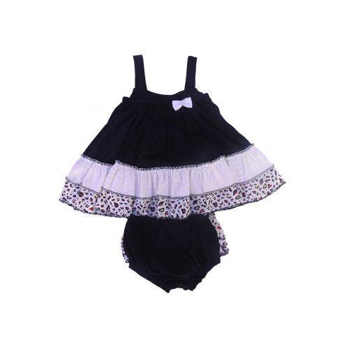 Vestido Infantil Malha com Tapa Fralda