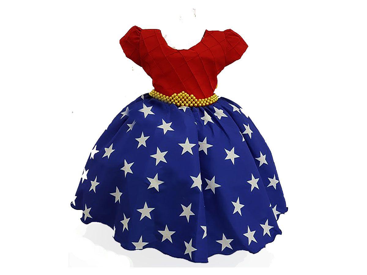 Vestido Infantil Menina Maravilha