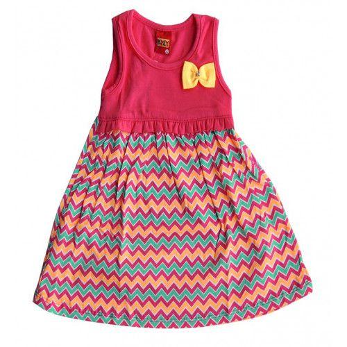 Vestido Infantil Regata  Rosa