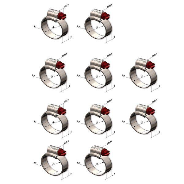 Abraçadeira Suprens 9x13 9mm Pacote Com 10 unidades Rosca Sem Fim