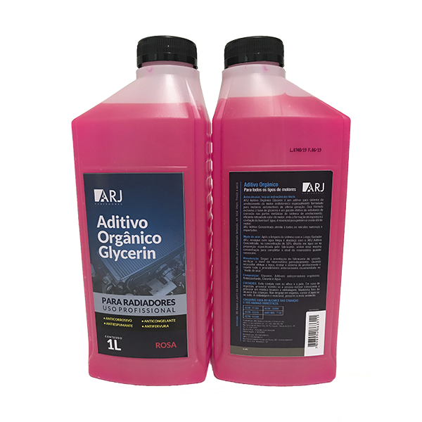 Aditivo Orgânico Glycerin Rosa Arj 1Lt Kit Com 12 Unidades