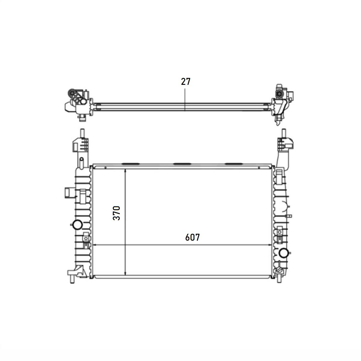 Radiador Chevrolet Meriva 1.4 1.8 8V Com Ar / Sem Ar Manual 2003 a 2009